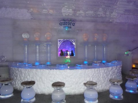 The bar in the Ice Hotel